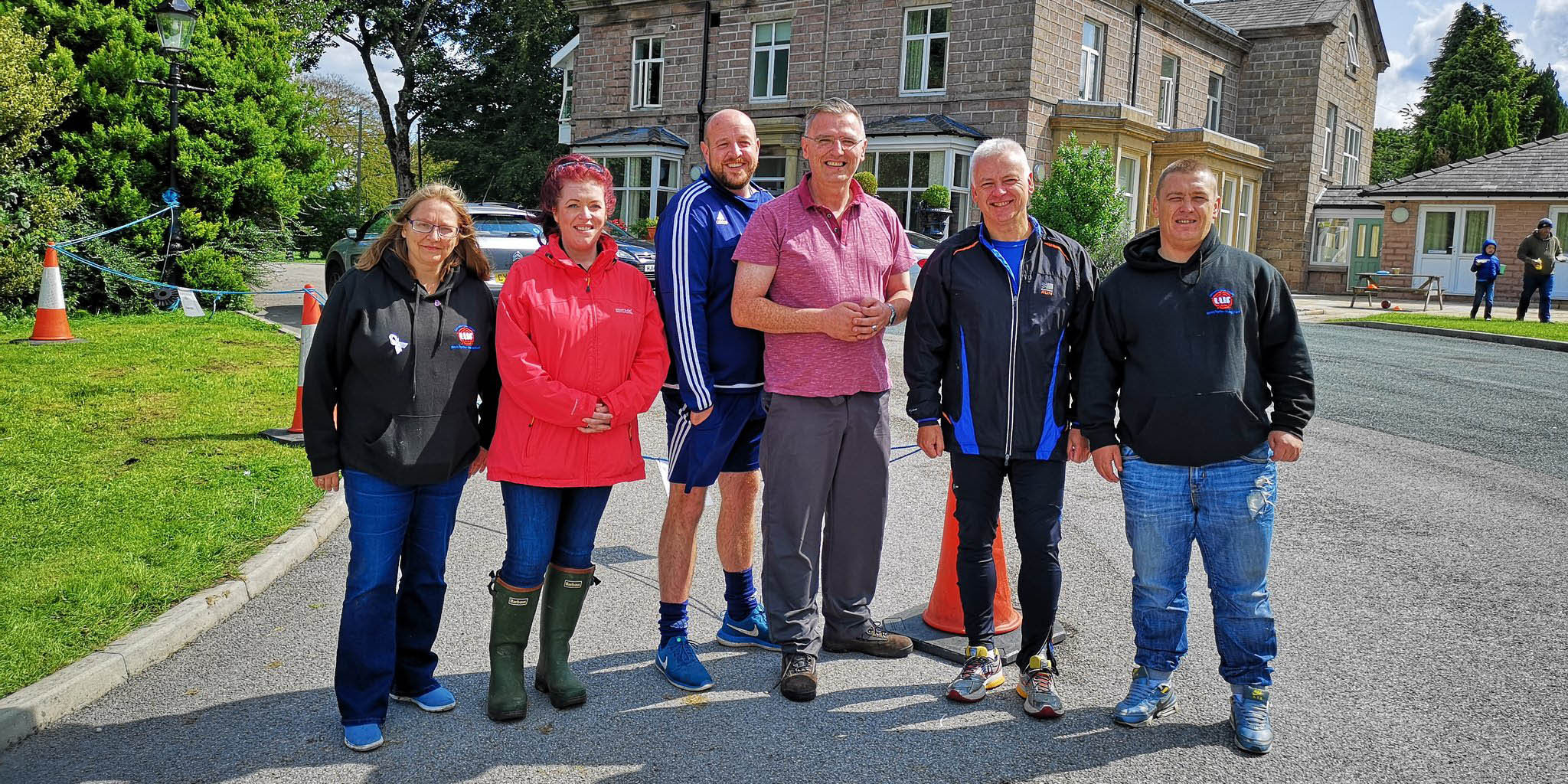 Lancashire recovery celebration: organisers of the LUFStock18 campout pictured at Salus Withnell Hall